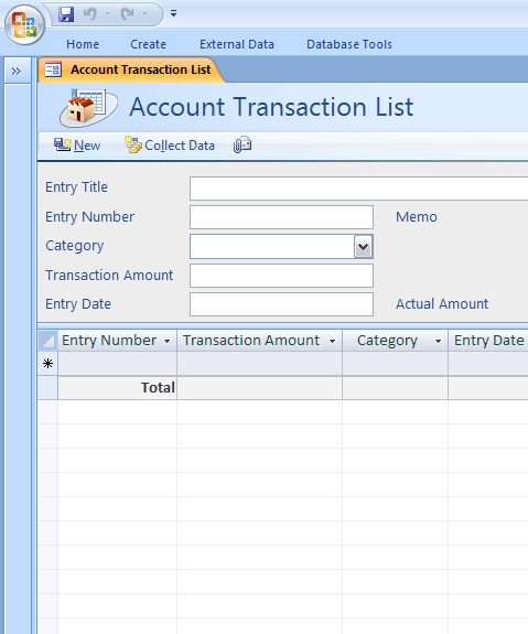 Access business account ledger