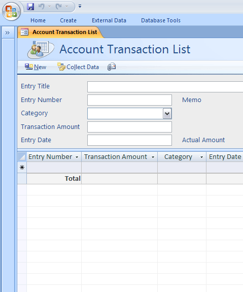 access personal account ledger